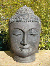 Steinsäule+Stein Buddha Kopf Gartensäule Standsäule Dekosäule Feng Shui Thailand