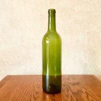 Empty Green Wine Bottle