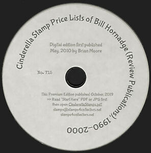 Cinderella Price Lists of Bill Hornadge 1990-2000 860pp fully searchable CD