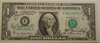 1977 $1 Dollar Bill E Richmond Autographed Azie Taylor Morton & WH Blumenthal