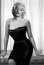 BLACK & WHITE MARILYN MONROE BLACK DRESS CELEBRITY PUBLICITY CLASSIC 8x11 PHOTO