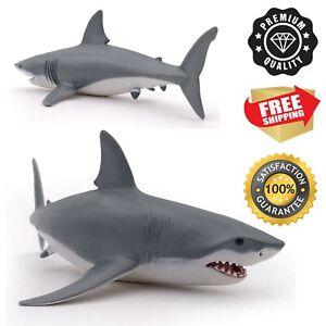 White Shark Bath Toy Kids Bathtime Great Painted Figurine Durable Toy Shark