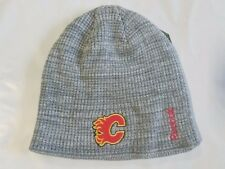 Calgary Flames REEBOK Knit Beanie Toque Winter Hat Cap Skull NEW NHL Draft Day