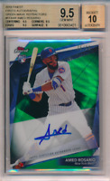 2018 Finest Firsts Green Wave Refractor /99 Amed Rosario RC BGS 9.5 10 Auto POP1