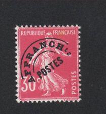 Préoblitéré N°59 30 c semeuse gomme avec charnière