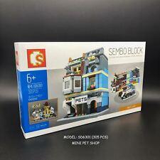 305PCS Building Toy Set Mini Bricks City Street Pet Shop Sembo Block