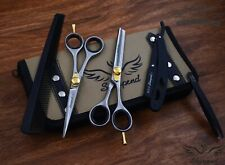 "6"" Professional Hair Cutting Japanese Scissors Thinner Barber Razor Shears Kit"