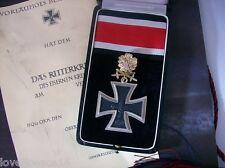 WW2 WWII Officer General Knights Iron Cross Golden Oak leaves Swords Brillants