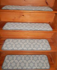 "14 = Step  9"" x 30""  Stair Treads Step WOVEN WOOL CARPET."