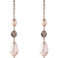 Bliss Orecchini In Argento rosa con perle rosa 20081543