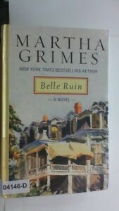 BELLE RUIN Martha Grimes LARGE PRINT Edition Hardcover BOOK