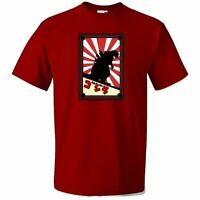 Men's Japanese Monster T-Shirt - GIFT GODZILLA FILM MOVIE ANIMATED PRESENT DVD