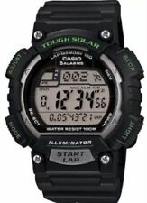 Casio Solar Watch, World Time, Chronograph, 100 Meter WR, 5 Alarms, STLS100H-1A