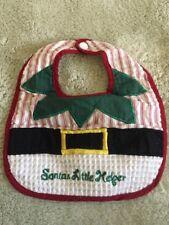 Baby Red Green White Christmas Elf Santa's Little Helper Bib