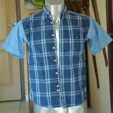 SERGE BLANCO PETIT QUINZE -hermosa camisa azul TALLA De 12 años EXCELENTE ESTADO