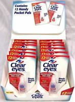 Clear Eyes Redness Relief Eye Drops Handy Pocket Pal 0.20 oz ( 12 pack)