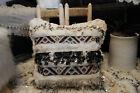 Moroccan Pillow Wedding Blanket Handira Berber Sequins Tribal Handmade Bohemian