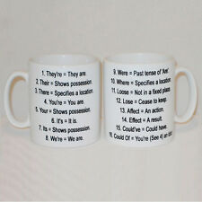 Grammar Rules Mug Can Be Personalised Any Name Funny English Tutor Teacher Gift