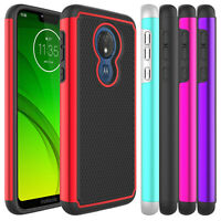 For Motorola Moto G7 Power/Supra Hybrid Shockproof Protective Armor Case Cover