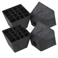 4PCS Plastic Trapezoid Furniture Legs Black for Sofa Cabinets Protection DIY