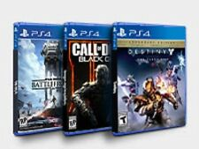 Lot of (3) PS4 Games-Call of Duty Black Ops III, Star Wars Battlefront, Destiny