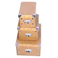 3x XXL Designer Aufbewahrungsbox faltbar DynaSun FC1299KBS Schachtel Allzweckbox
