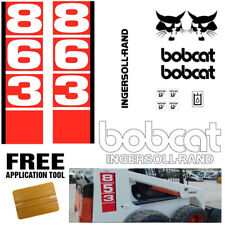 Bobcat 863 v1 Skid Steer Set Vinyl Decal Sticker bob cat MADE IN USA + FREE TOOL
