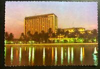 1980 Kowloon Hong Kong RPPC Postcard Cover To New York Usa Manila Hotel