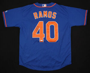 Wilson Ramos Signed New York Mets Majestic MLB Jersey (JSA COA) 2x All Star