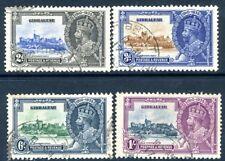 GIBRALTAR-1935 Silver Jubilee Set Sg 114-117 FINE USED V18874
