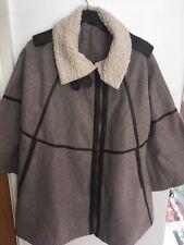 Topshop Duffle-Coat Cape Beige Taille 10 Femme