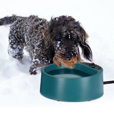 Heated Pet Bowl Outdoor Dog Thermal-Bowl Provide Drinkable Water in Sub-Freezing