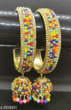 Indian Kundan Jewelry Bangle Bracelet 2 Ethnic Traditional Set Bollywood Kada 1