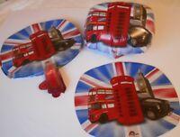 100 Helium / Air Foil Balloons ROYAL WEDDING / LONDON ICONS Wholesale Job Lot