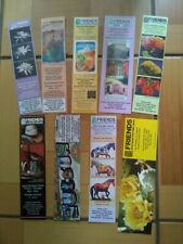 """SET of 9 DIFFERENT COLORFUL PAPER BOOKMARKS """"FRIENDS"""" 2 SIDES. NEW."""