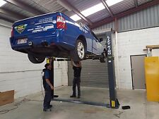 2-POST CAR HOIST FLOOR MOUNT 4.0T AUST CERTIF FOR WORK SHOPS by HERO HOISTS QLD.