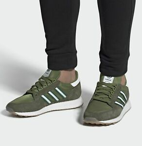 ADIDAS FOREST GROVE HAMBURG MENS SHOES SUEDE JEANS CAMO GREEN SPEZIAL EE5764 NEW