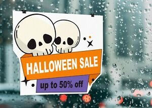 Halloween Sale Up To 50% OFF Poster Or Sticker Colour Printed Sign 4567