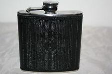 Jim Beam Whisky Flachmann schwarz silber ca.9,5cm hoch Edelstahl 6 oz Neu