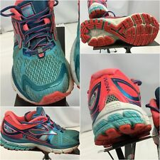 Brooks Ravenna Sz 7.5 Women Blue Pink Running Shoes EUC YGI C8