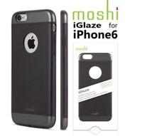New Moshi iGlaze Armour Slim Metallic Aluminum Cover Case For iPhone 6 6S Black