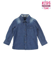 Aston Martin Denim Shirt Size 12-18M Faded Effect Popper Front