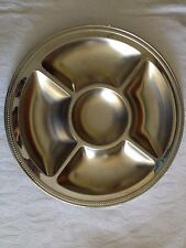 Guy Degrenne Cosmos 1986 Plat De Service Inox  5 Compartiments Made  In France