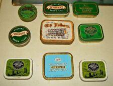 Vintage Bundle Tobacco Tins Job lot X9 PLAYERS SOBRANIE LOYDS SKIPPER HOLBORN