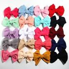 """20pcs 13CM 5.1"""" New Seersucker Waffle Hair Bows For Headbands Boutique Accessory"""