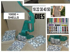 MULTI-FUNCTION BUTTON MAKING PRESS COVER MACHINE +5 DIES +10000 BUTTONS