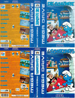 -  Les Schtroumpfs The Smurfs Mega Drive Replacement Box Art Case Insert Only
