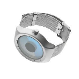 Unique Vortex Dial Digital Men's Creative Stainless Steel Mesh Band Wrist Watch