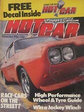 Hot Car magazine November 1980