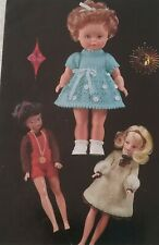 KNITTING PATTERN for Sindy 11.1/2 inch and 14 inch  tall Dolls cloths 6448